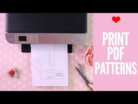 How to Print PDF Sewing Patterns | Printing digital patterns