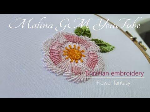Flower Fantasy   Brazilian Embroidery   Bullion stitch Embroidery