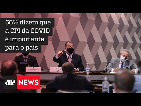 73% dos brasileiros tem conhecimento dos trabalhos da CPI da COVID