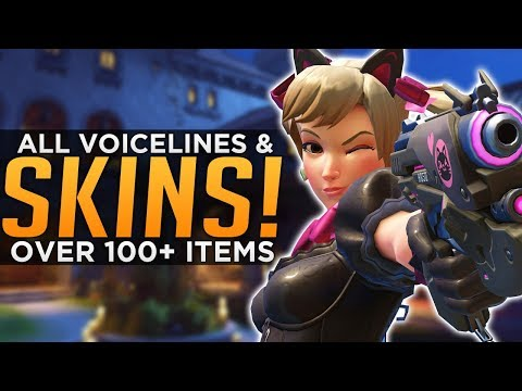 Overwatch: All NEW Skins, Emotes & Voice Lines! - 100+ Cosmetics!