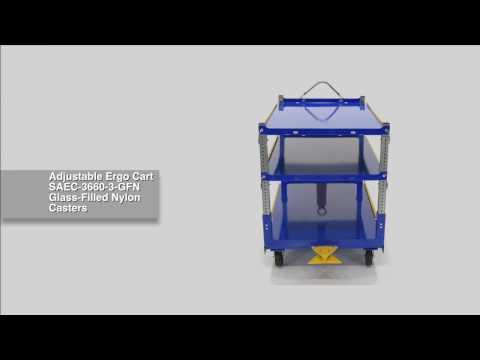 Adjustable Ergo Cart AEC-3660-3-GFN