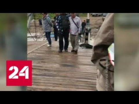 В Якутии пьяный капитан посадил паром на мель - Россия 24