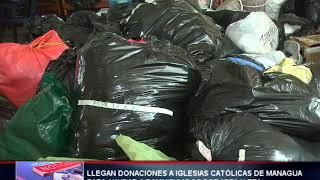 Iglesia católica recepciona víveres  para damnificados por los huracanes Eta y Iota