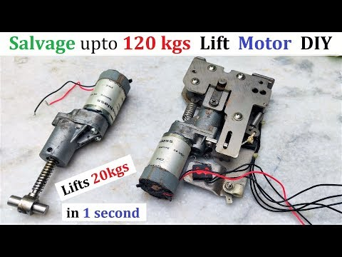 Small DC Motor Lifts 20kgs - Reuse 24V Linear DC Motor from OLD Metal Bender
