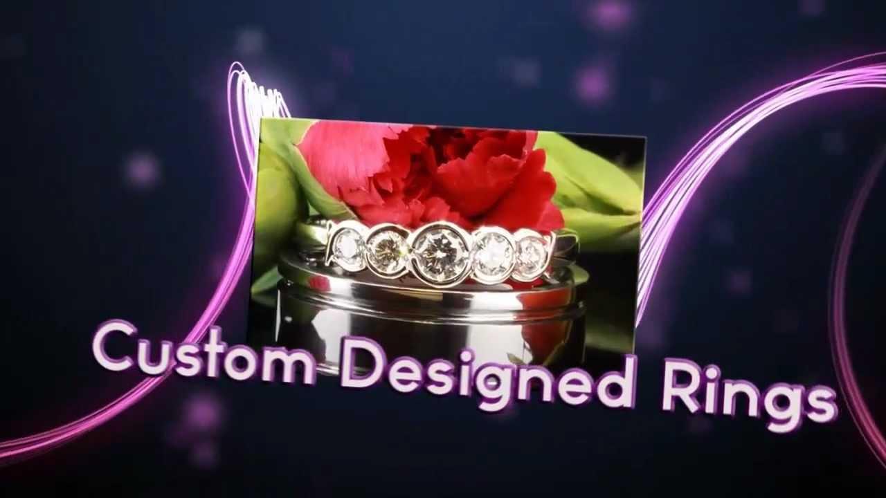 Modern And Custom Jewelry Designs In Platinum White Gold Yellow Gold Gemstones Certified Diamonds - YouTube