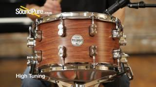 PDP 8x14 Limited Edition Bubinga / Maple Snare Drum Quick n' Dirty