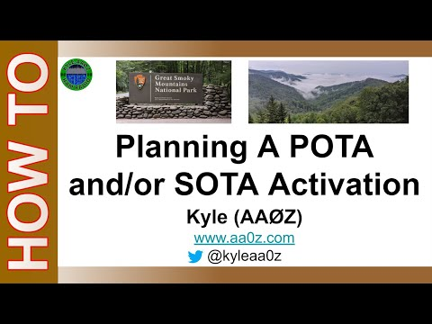 Ham Radio POTA SOTA - How To Plan A POTA or SOTA Activation