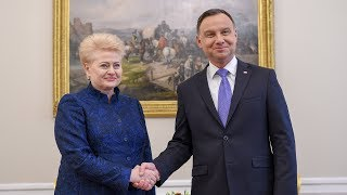 Prezidentė susitinka su Lenkijos Prezidentu Andrzejumi Duda