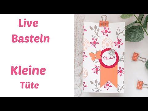 Live Basteln--Kleine Tüte--Geschenkverpackung selber basteln--DIY