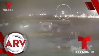 Video muestra dos posibles misiles haciendo explotar avión ucraniano   Al Rojo Vivo   Telemundo