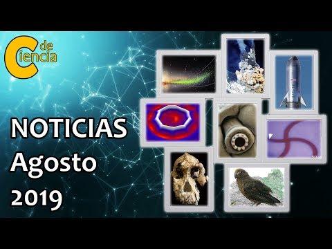 Noticias científicas agosto 2019
