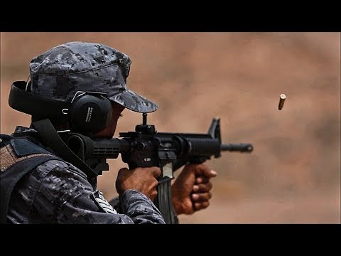 U S  and Jordan Armed Forces Clear Town As Part Of Military