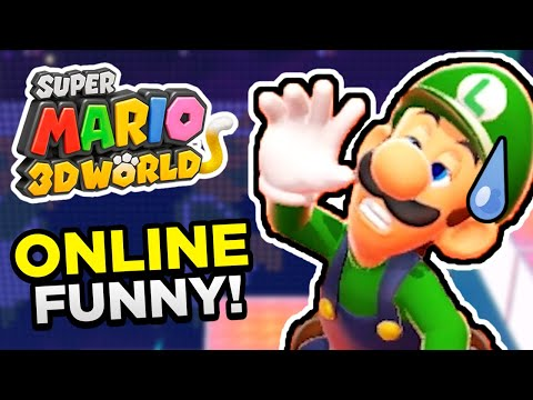 THE SUPER MARIO 3D WORLD ONLINE EXPERIENCE!!   Funny Moments (Multiplayer Gameplay)