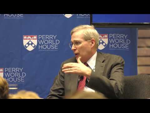 Madeleine Albright  and Stephen Hadley at University of Pennsylvania