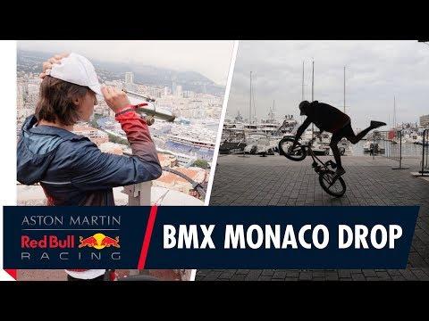 Red Bull BMX Flatlander Viki Gómez drops in on the Monaco Grand Prix