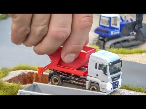 RC Trucks! Excavators! INCREDIBLE 1/87 scale!