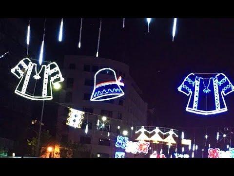 CHRISTMAS STREET DECORATIONS TIME-LAPSE, BUCHAREST, ROMANIA