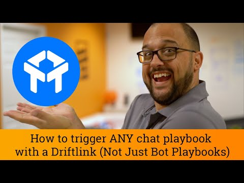 Drift Tutorial: How to trigger ANY chat playbook with a Driftlink (Not Just Bot Playbooks)