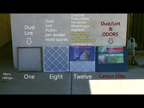 DIY Air Filter! - Up To MERV 12! (w/activated carbon) - carbon air purifer! odor removal! AC/DC Pwrd