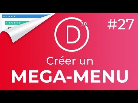 #Divi 27: Créer un MEGA MENU + modifier le nombre de COLONNES