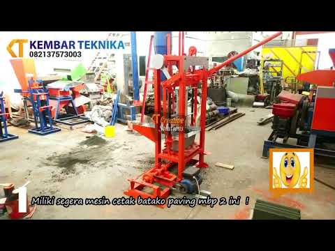 Penggunaan Mesin Cetak Batako MBP 2 di Lokasi Pelanggan