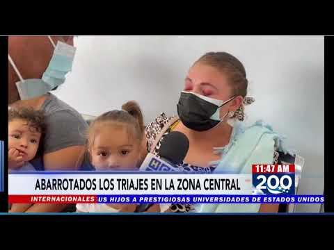 Abarrotados lucen triages en la zona central del país