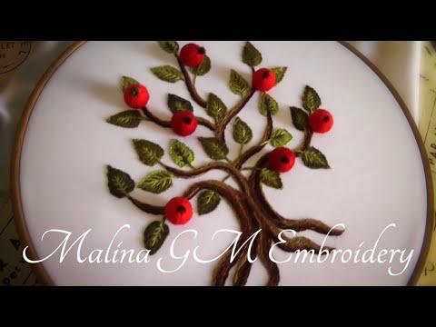 How to embroider an apple tree | Как вышить дерево