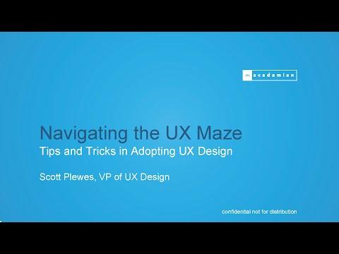 Macadamian | Webinar Recording: Navigating the UX Maze