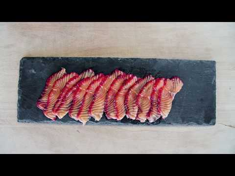 Rödbetsgravad lax - Någonting att äta