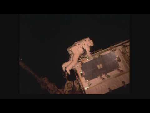 Space Station Spacewalkers Continue Power Upgrades…