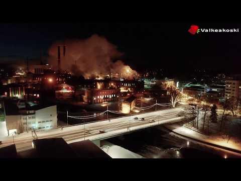 Valkeakosken kaupungin talvinen keskusta