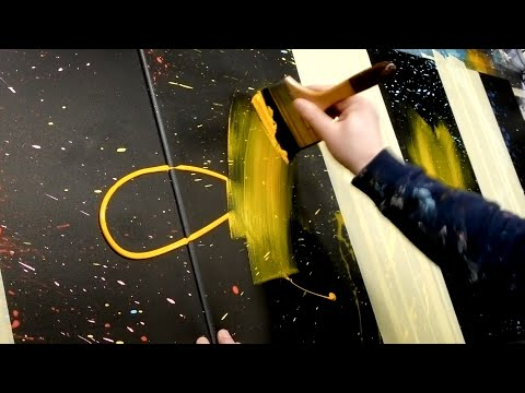Acrylic Painting – Abstract Art Demonstration | Aeolus