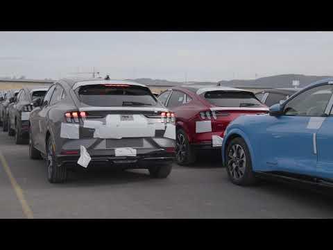 De første kundesolgte Ford Mustang Mach-E ankommer Drammen| Ford Norge