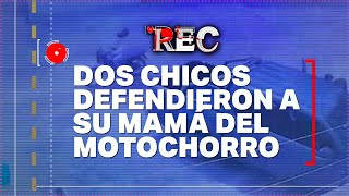 DEFENDIERON A SU MAMÁ del MOTOCHORRO - SE BOXEARON por una DISCUSIÓN de TRÁNSITO ????REC