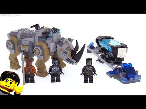 connectYoutube - LEGO Black Panther Face-Off by the Mine set review! 76099