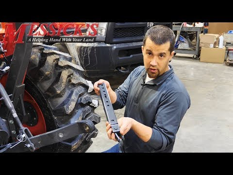 Kubota Standard L Series telescopic stabilizer kit (overview and install) Picture