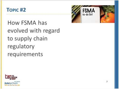FSMA Fridays March 2016 - Supply Chain Controls -