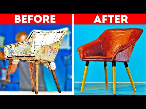 FURNITURE DIY RENOVATION || 24 Ways To Upcycle Old Stuff