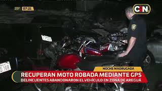 Recuperan moto robada mediante GPS
