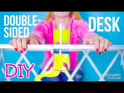 DIY Multifunctional Double-Sided Desk – How To Make A Desk And Organize It