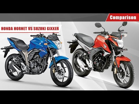 Suzuki Gixxer vs Honda CB Hornet 160R | Comparison Video | BikeDekho.com