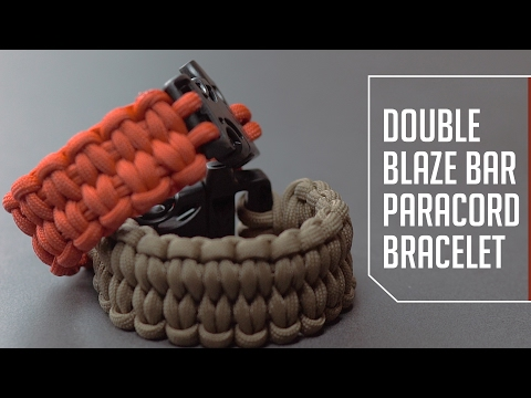 Double Blaze Bar Paracord Bracelet