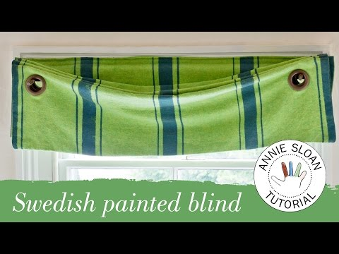 How to make and hang a Swedish blind