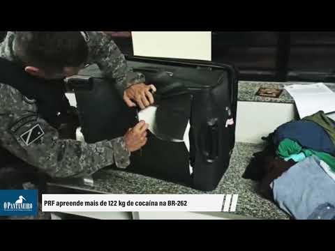 PRF apreende mais de 122 kg de cocaína na BR-262