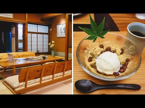 Trying Japanese Desserts at a Traditional Tea House in Takayama, Japan