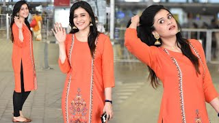 Actresd Mannara Chopra Airport Look | Tollywood Celebrities Airport Videos | TFPC - TFPC
