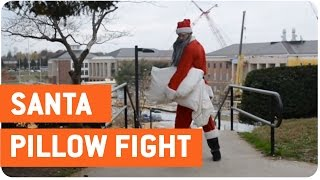Santa Pillow Fights Students | Naughty or Nice?
