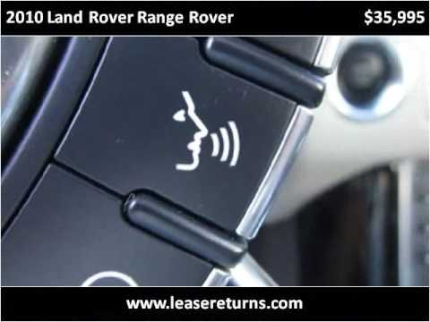 2010 Land Rover Range Rover Used Cars San Ramon CA