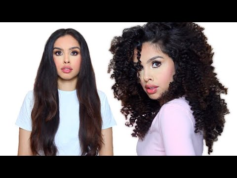 Straight to Curly Hair tutorial NO HEAT