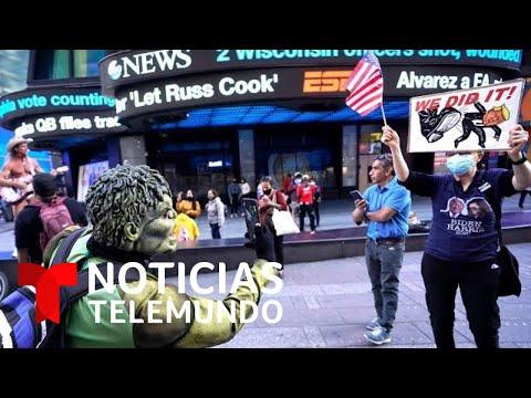 Simpatizantes de Joe Biden celebran su ventaja en las calles de Nueva York | Noticias Telemundo
